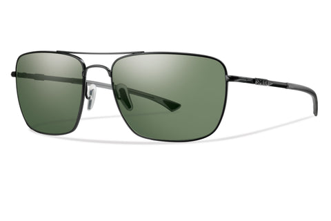 Smith Nomad Sunglass Matte Black Frame Polarized Gray/Green Lenses Size 59-17-140
