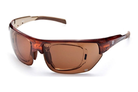 Wilson 1017 Sunglasses Crystal Brown Frame Brown Lenses Size 71-14-126