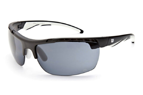 Wilson 1015 Sunglasses Black/White Frame Grey Lenses Size 74-18-120