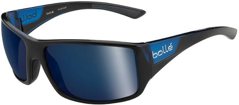 Bolle Tigersnake Sunglasses Shiny Black/Matte Blue Frame Grey Lenses