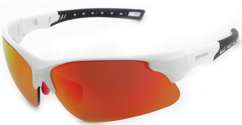 Peppers Swift Floating Sunglasses Matte White/Black Frame Red Lenses