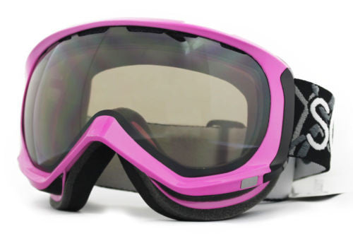 Scott Reply Goggles neon pink Frame black chrome Lens