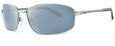 Nautica N4548S Sunglasses Satin Dark Gunmetal Frame Grey Lenses Size 62-15-135