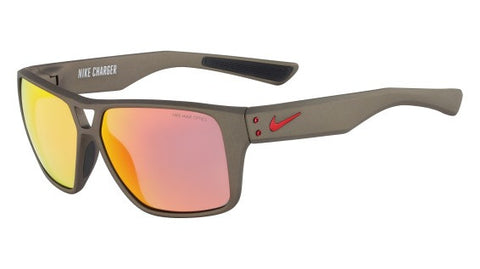 Nike Charger EV0764 Sunglass 061 Black/Red Frame Grey/Red Lenses Size 59-13-140