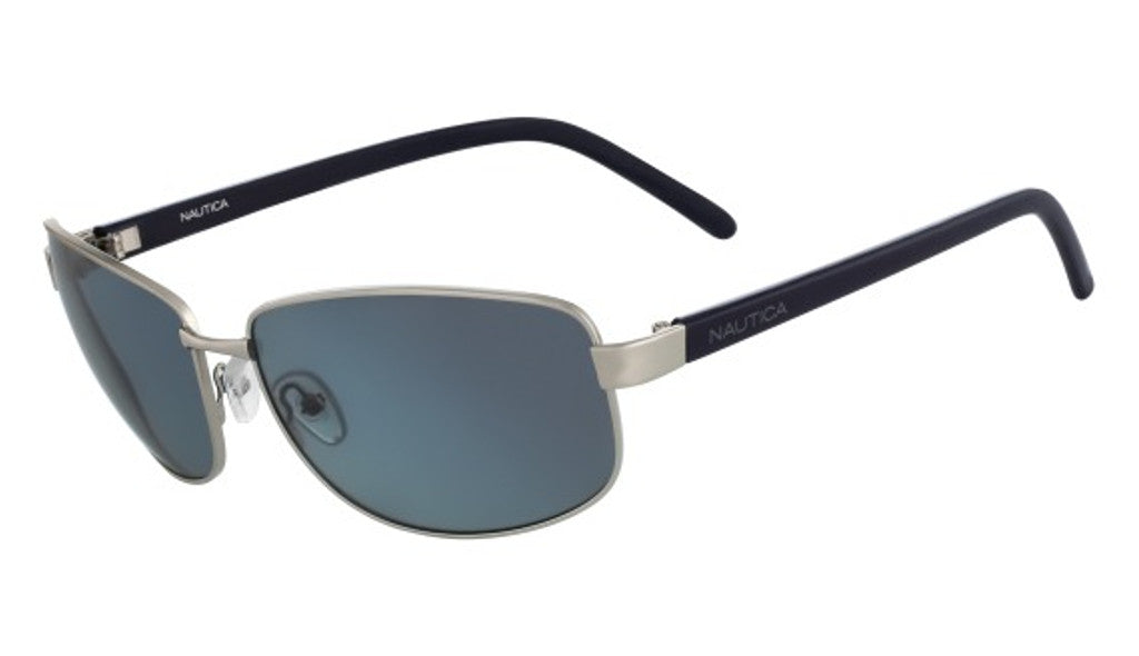Nautica N4564SP Sunglasses Silver Frame Blue Lenses Size 63-17-123