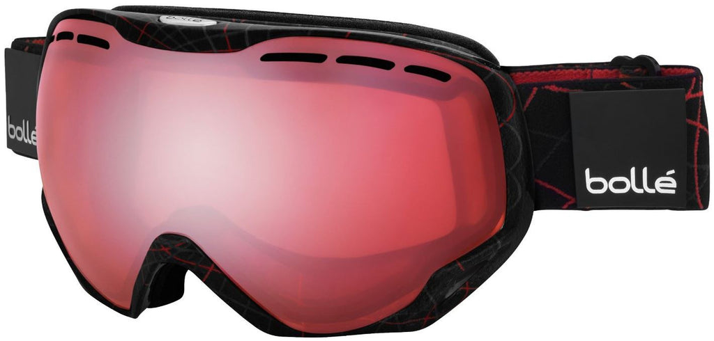 Bolle Emperor OTG Goggles Black/Red Loops Frame Vermillon Lens