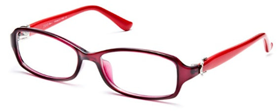 Seeline G6112 Eyeglass C524 Crystal Purple Red Frame Size 53-16-135