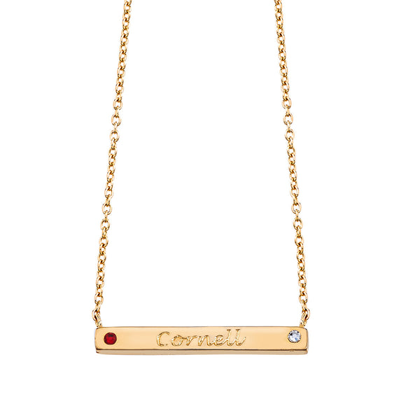 Pride 2-Sided Bar Necklace - Cornell + Go Big Red! - Collegiate Soul