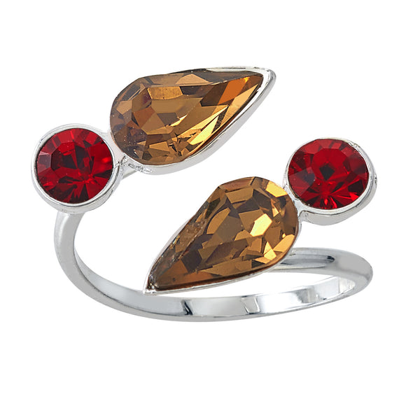 Spirit Wrap Ring - Red & Brown - Collegiate Soul