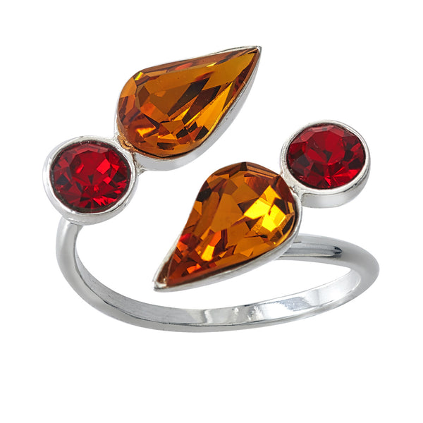 Spirit Wrap Ring - Red & Gold - Collegiate Soul