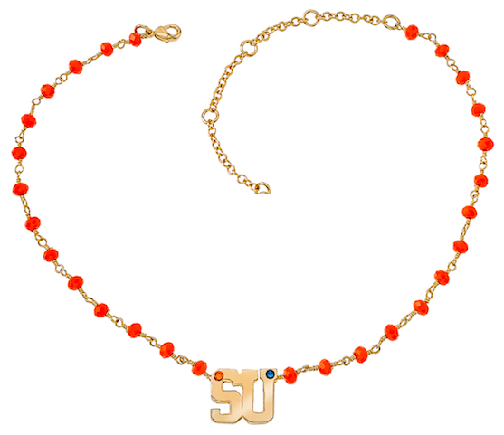 Pride Beaded Chain Choker - Syracuse - Collegiate Soul
