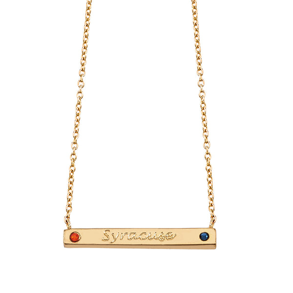 Pride 2-Sided Bar Necklace - Syracuse - Collegiate Soul