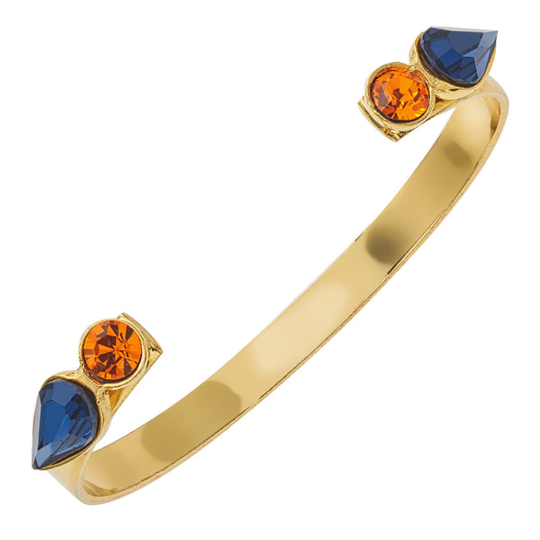 Spirit Cuff Bracelet - Orange & Blue - Collegiate Soul