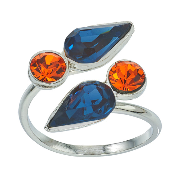 Spirit Wrap Ring - Orange & Blue - Collegiate Soul