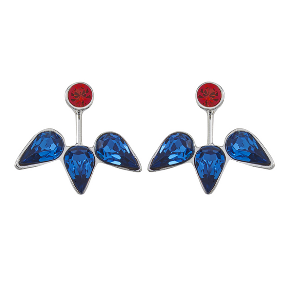 Spirit Ear Jackets - Red & Blue - Collegiate Soul