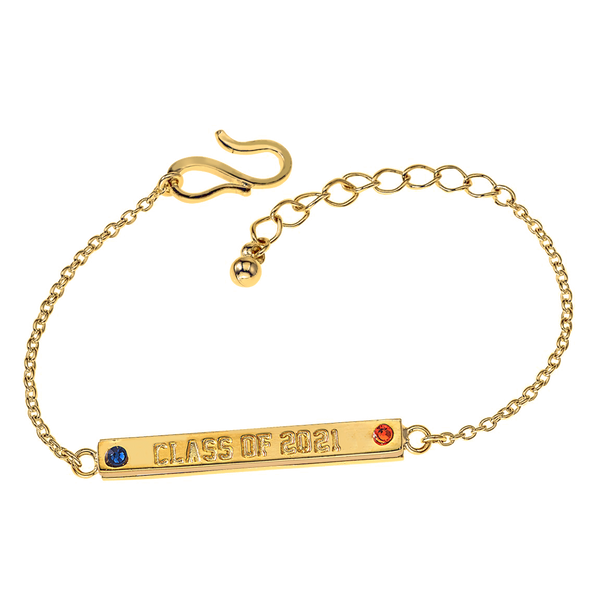 Pride 2-Sided Bar Bracelet - Syracuse + Class Year - Collegiate Soul