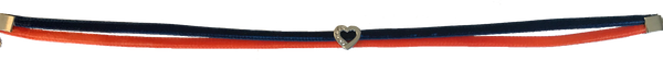 Heart Choker - Orange & Blue - Collegiate Soul