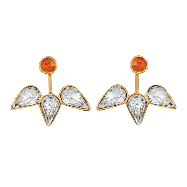 Spirit Ear Jackets - Orange & White - Collegiate Soul