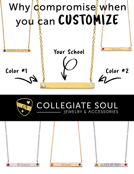 Custom 2-Sided Bar Necklace - Collegiate Soul