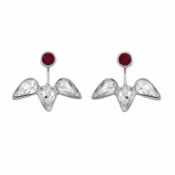Spirit Ear Jackets - Dark Red & White - Collegiate Soul