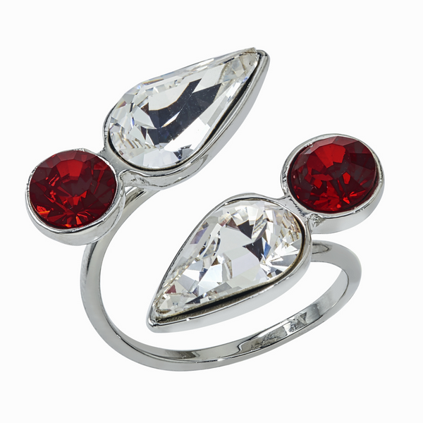 Spirit Wrap Ring - Dark Red & White - Collegiate Soul