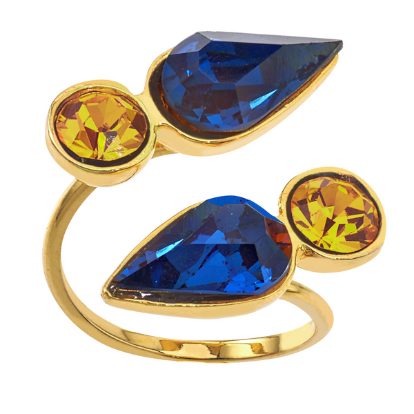 Spirit Wrap Ring - Navy & Gold - Collegiate Soul