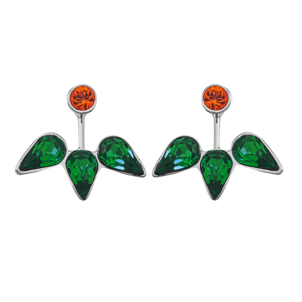 Spirit Ear Jackets - Orange & Green - Collegiate Soul