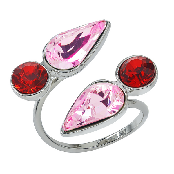 Spirit Wrap Ring - Pink & Red - Collegiate Soul