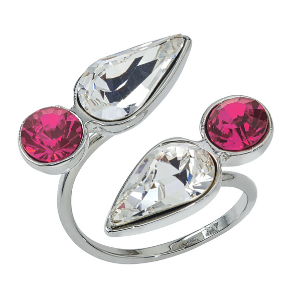 Spirit Wrap Ring - Pink & White - Collegiate Soul