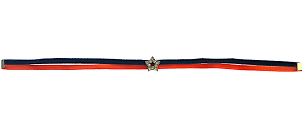 Star Choker - Orange & Blue