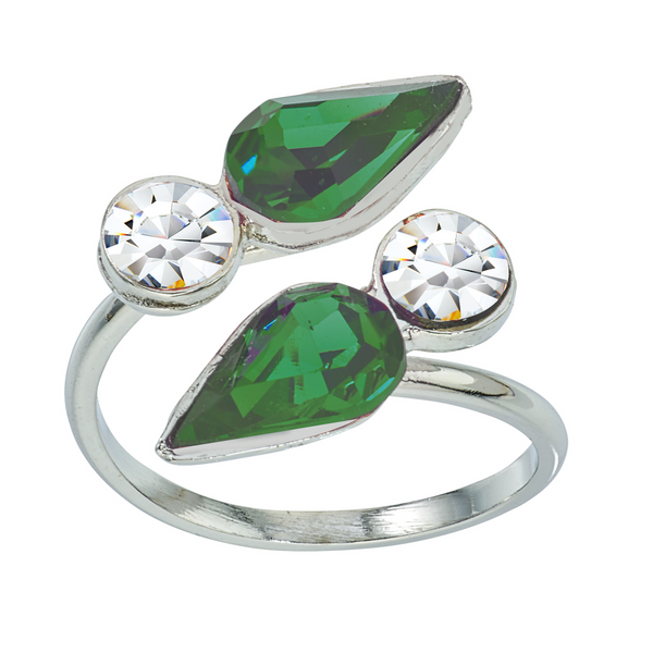 Spirit Wrap Ring - Green & White - Collegiate Soul