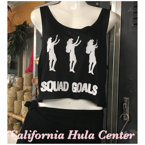 "Box Tank Top - ""Squad Goals""- Black"
