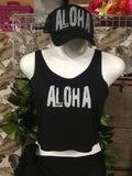 Ladies Crop Top- Aloha/Pineapple