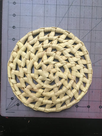 CLEARANCE Raffia Woven Circle Coaster