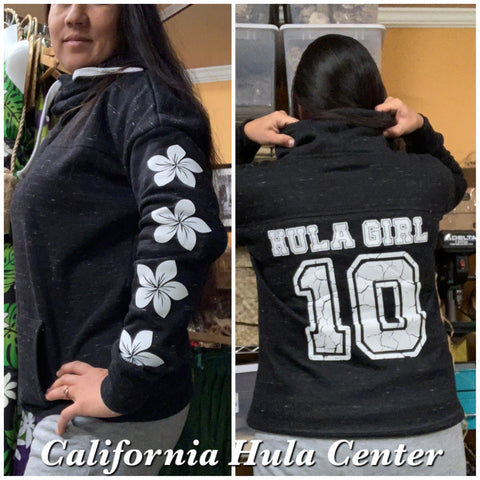 Cowl Neck Hula Girl Sweatshirt