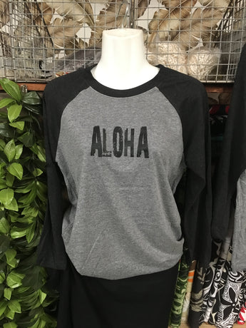 Unisex Baseball 3/4 Sleeve- Aloha/Pineapple