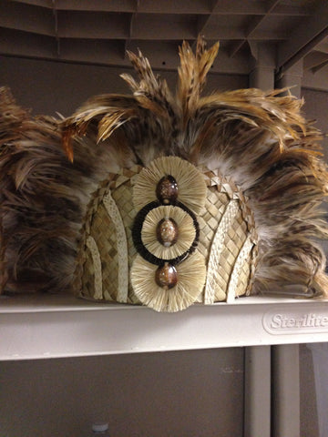 Tahitian Feather Front Headpiece