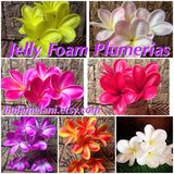 Buy In Bulk -Jelly Foam Plumeria Flowers Pick