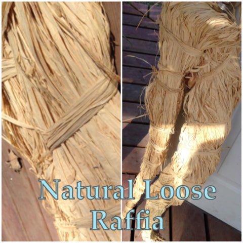 Raffia- natural color- 2 pound hank