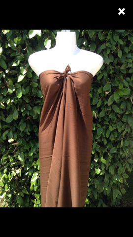 Pareu- Fringe Rayon - Milk Chocolate
