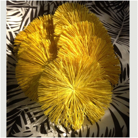 Raffia Circles- Yellow