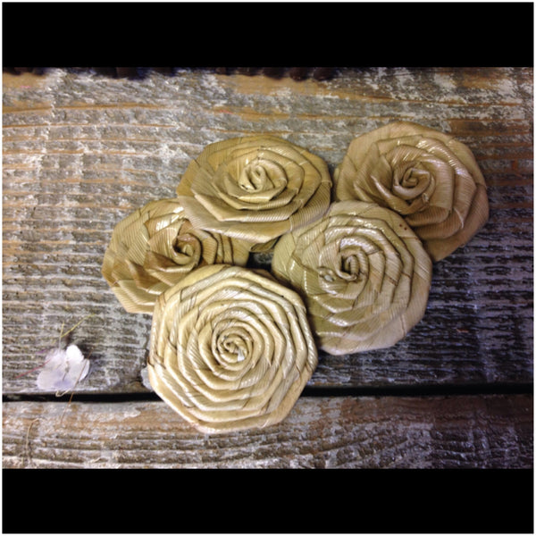 "Lauhala Roses 1.5"" wide"