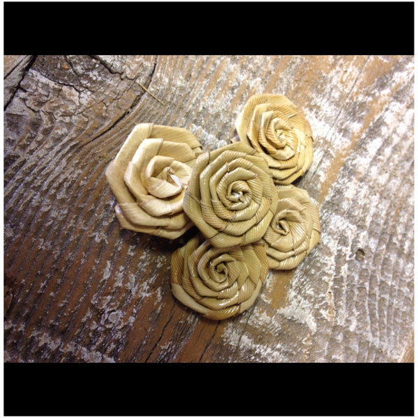 "Lauhala Roses 1"" wide"
