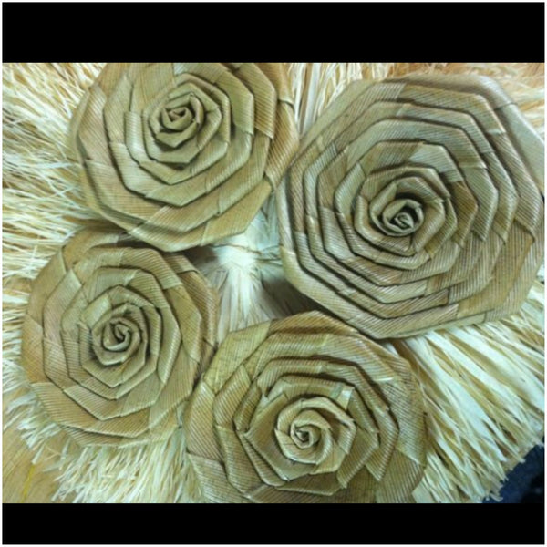 "Lauhala Roses 2"" wide"