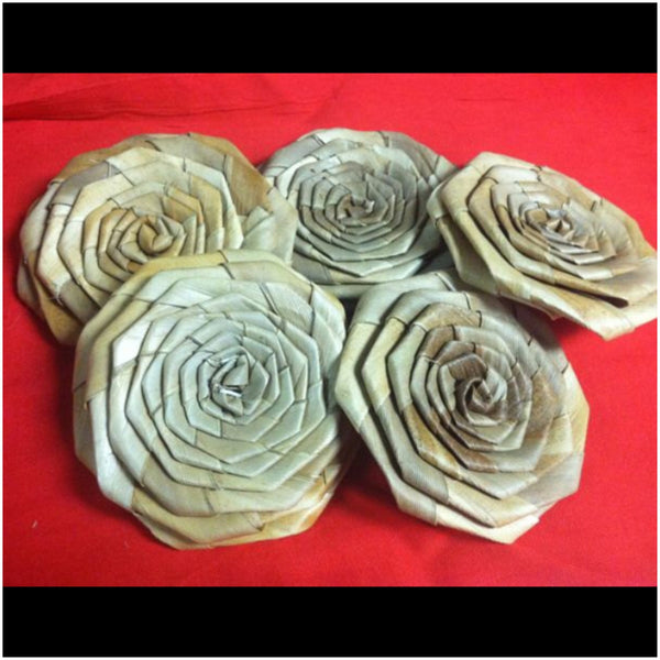 "Lauhala Roses 3.5"" wide"