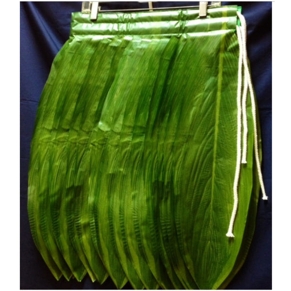 Banded Artificial Ti Leaf Skirt