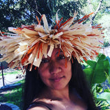 Dried Husk & Raffia Crown Tahitian Headpiece