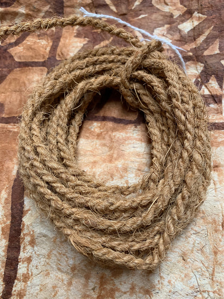 Coconut Twisted Sennit Rope 18 Feet