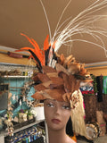 Feather and Coconut Fiber Headpiece