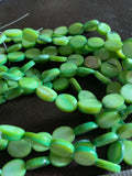 Green Wide Oval Shell Strand
